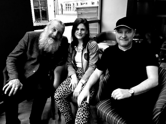 Alan Moore, Bettina Carpi and Gary Lloyd.