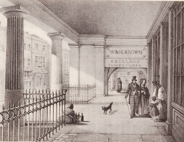 An engraving depicting Brown's of Chester from the 1840s