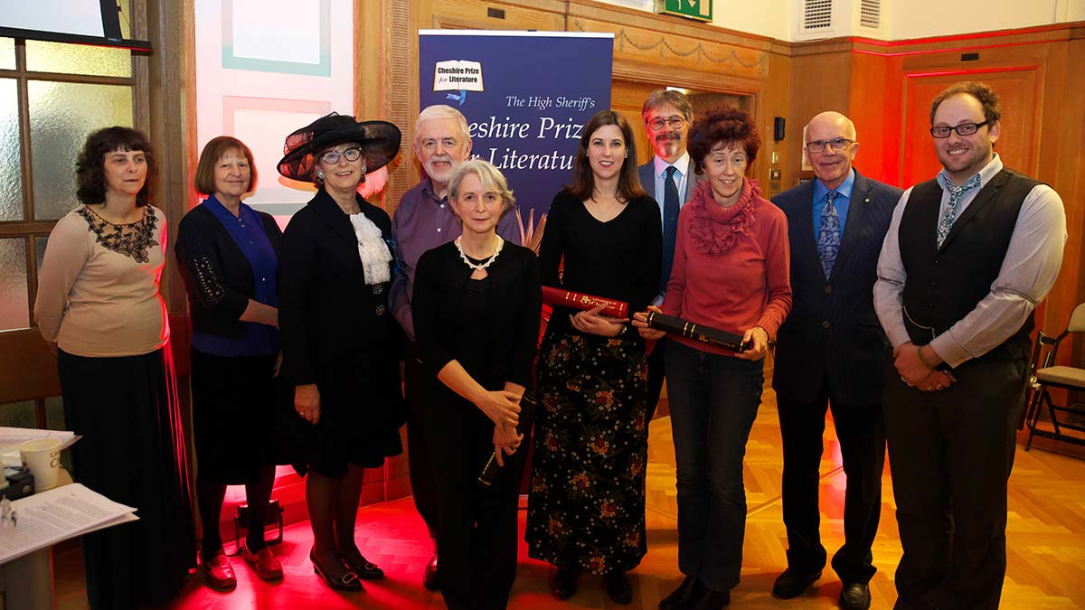 L-R: Judges Sue Rowe and Anne Williams, the High Sheriff of Cheshire, Eric Twist, Elizabeth Harris, Laura Bridge, Alex Brychta MBE, Sharon Forsdyke, Rod Hunt MBE, Head Judge Simon Poole.