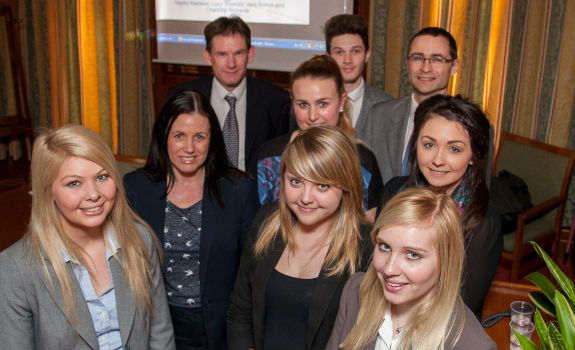 University of Chester Marketing students present their key findings to the Candis Management team