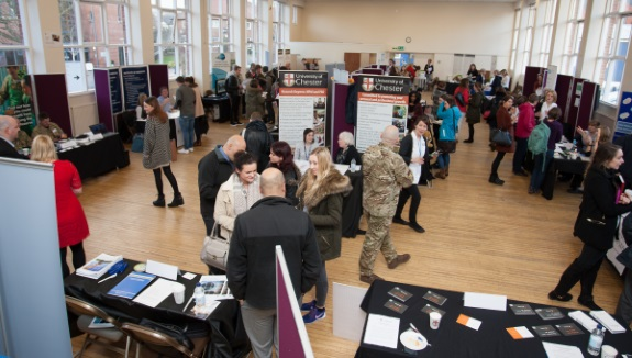 A Biology Careers Fair at the University of Chester. November's Careers Fest event is the first University-wide Careers Fair.