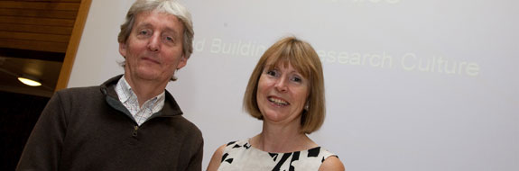 Ossie Jones and Caroline Rowland at the Research Colloquium