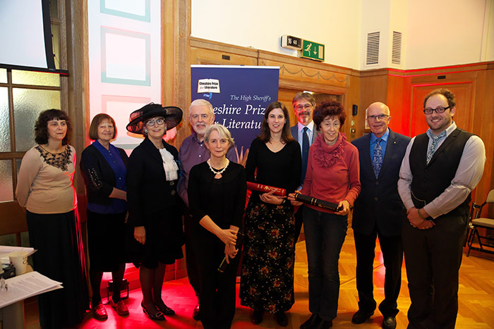 Left to right: Sue Rowe and Ann Williams (judges); High Sheriff of Cheshire Sarah Callander–Beckett; Eric Twist; Elizabeth Harris; Laura Bridge; Alex Brychta MBE; Sharon Forsdyke; Rod Hunt MBE and Si Poole.