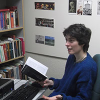 Eileen Pollard in her office