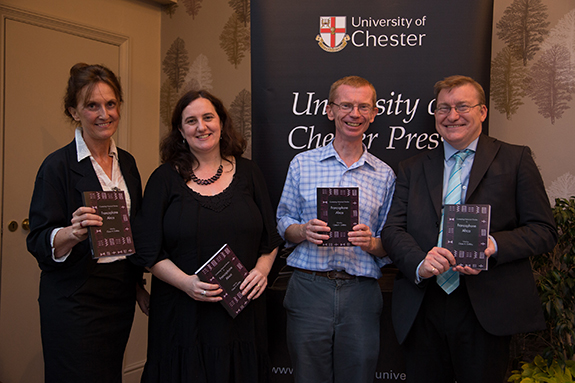 Professor Claire Griffiths, Brenda Garvey, Dr Martin Evans and Dr David Perfect