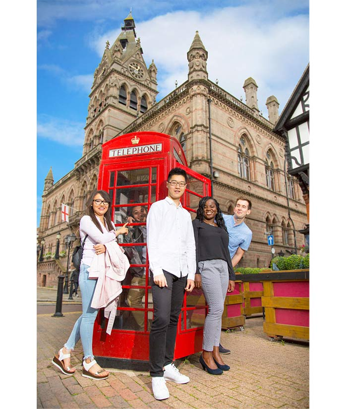 International students explore their new home in Chester