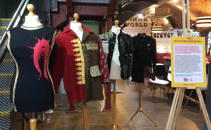 University of Chester student has had her artwork displayed at The Beatles Story Museum in Liverpool as part of Armed Forces Day.