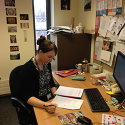 Jennifer Hillman in her office