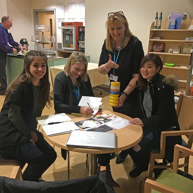 LMPE Events pictured with Julie Charlton, Marketing Manager, and Jane Uttley, Corporate and Major Donor Manager, both from the Hospice of the Good Shepherd. Left to right: Laura D'Alessandro; Julie Charlton; Jane Uttley and Pinky Liu.