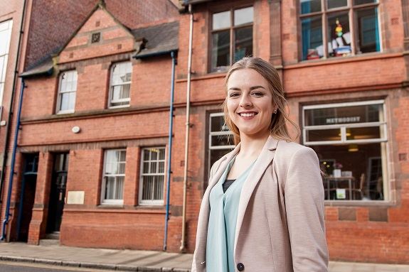 Lucy Brown, who is completing a degree apprenticeship at the University of Chester.