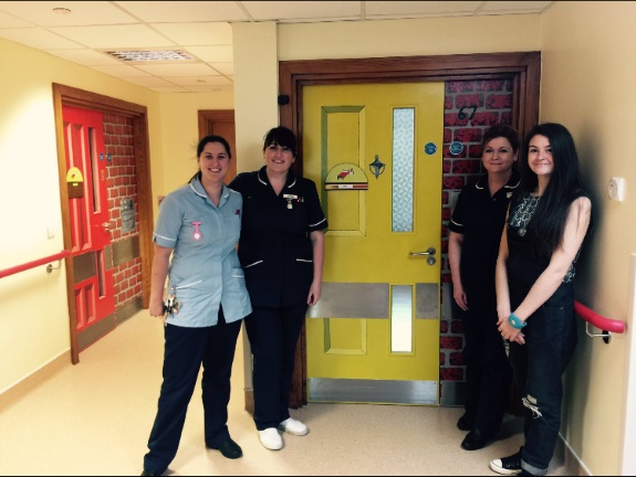 Left to right: Gemma Colley, Ward Sister Olivia Card; Ward Manager Sharon Pentony and Stefanie Marsh