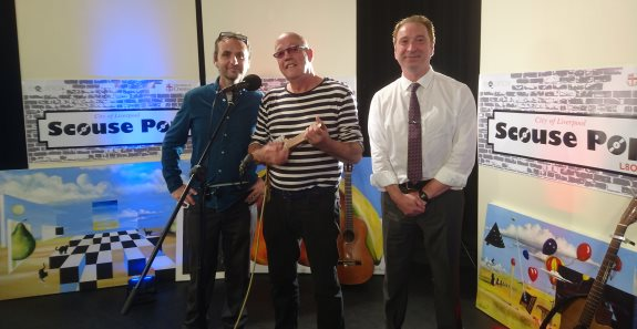 Left to right: Producer Neil Duffin, Frank Maudsley (from A Flock of Seagulls) and Paul Skillen.