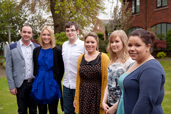 Students James Taylor, Jenni Moss, James Hando, Sarah Whittaker, Julia Kanerva and Briony Ashton from the University's People and Planet team.