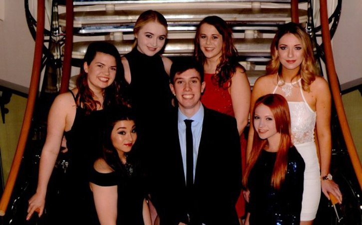 University of Chester Royal Caribbean interns 2017. Back row left to right: Laura Cuthbertson; Fionnuala Ryan; Hannah Jarrett and Natalia Komorowska. Front row left to right: Lauren Verdon; David O'Rawe and Rhianna Rees.