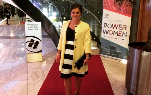 Stephanie Hooker at the Northern Power Women Awards.