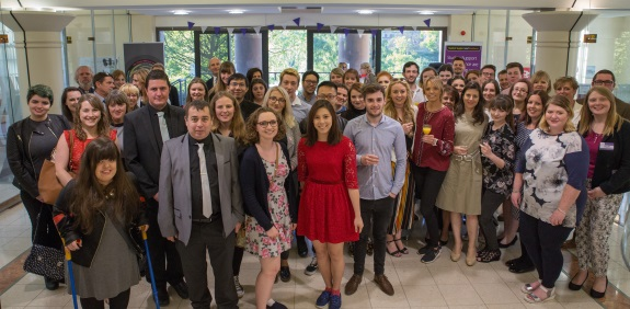 Pictured are the guests of the awards evening, including UCV award winners; the Choice award finalists and University of Chester staff, students, and guests.
