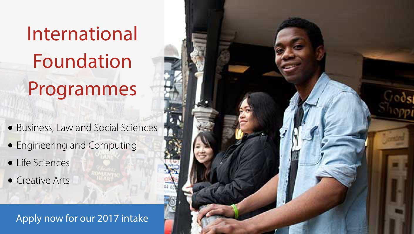 International Foundation Programmes - Apply now for January 2017 intake