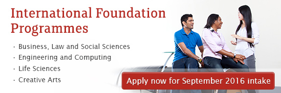 International Foundation Programmes - Apply now for January 2016 intake