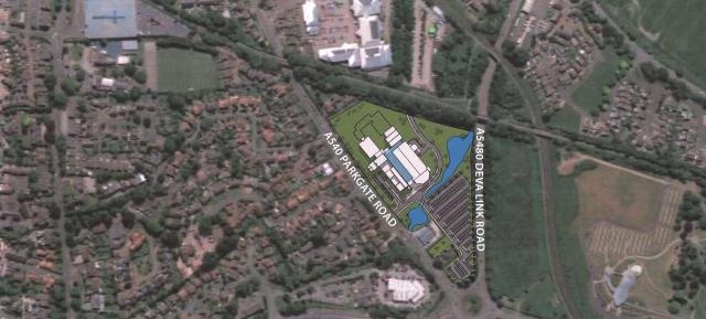 Site plan for future Chester Medical School