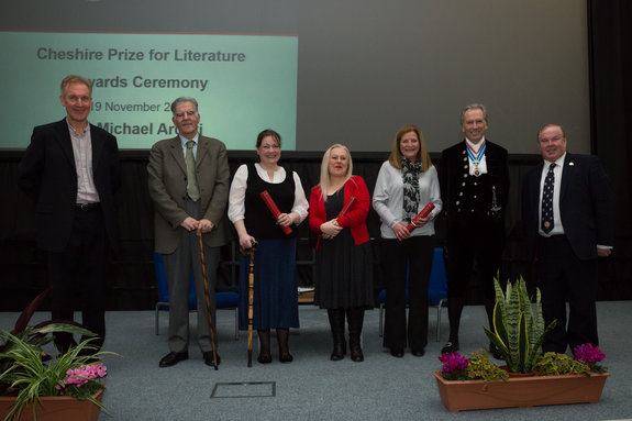 Winners of the Cheshire Prize 2015 with Dr Ian Seed, Dr Michael Arditti, Mr Bill Holroyd, and Professor Tim Wheeler