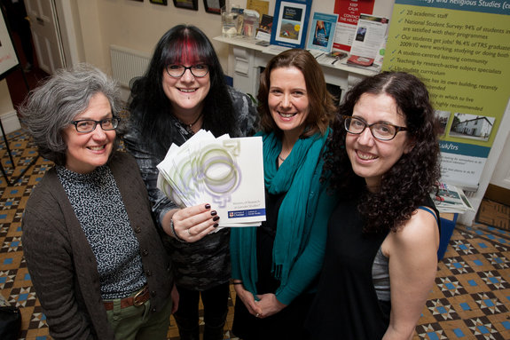 Pictured at the launch of the Institute of Gender Studies are founding members: Professor Deborah Wynne, Professor Emma Rees, Dr Dawn Llewellyn and Dr Cassie Ogden.