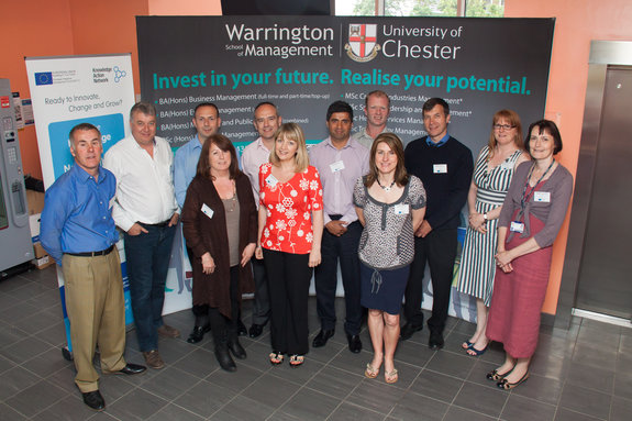 Delegates at the welcome session of the Warrington Knowledge Action Network.