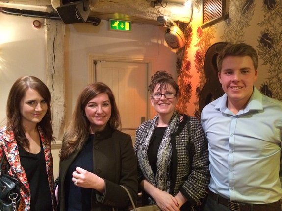 Kirsty Badrock; Karren Brady; Claire Blanchard and Jack Miller.