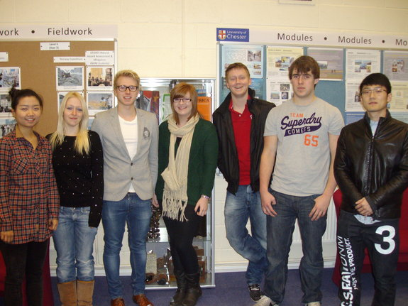 L to R: Lauren Fei; Gemma Skidmore; William Mason; Jessica Harrison; Jack Brand; Luke Atwell and Chris Wang.
