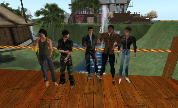 The Response exhibition team in the Second Life guises.